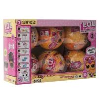 Игрушка-кукла-сюрприз домашние питомцыв шарике 6шт оптом