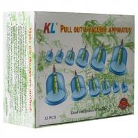 Вакуумные (Массажные) банки Pull out a vacuum apparatus KL 12 шт. оптом