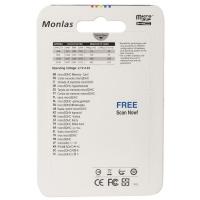 Карта памяти Monlas 32 Gb microSDHC clas10 с адаптером