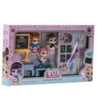 Игровой набор Куклы-сюрпризы и школа
