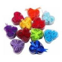 Мыло цветы в форме сердца