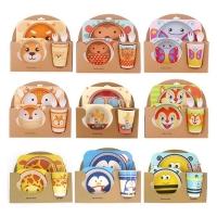 Комплект посуды для детей из 5 предметов оптом