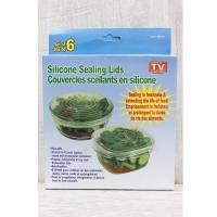 Набор многоразовых крышек для посуды Silicone sealing libs