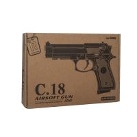 Игрушечный металлический пневматический пистолет Airsoft GunС 18