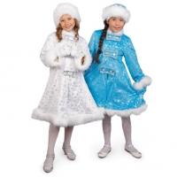Детский костюм Снегурочки со снежинками оптом