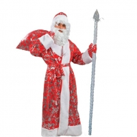 Костюм Деда Мороза с растительным узором