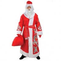 Костюм Деда Мороза с узором оптом