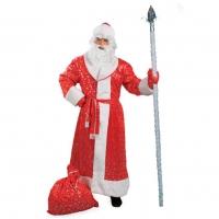 Костюм Деда Мороза со снежинками оптом