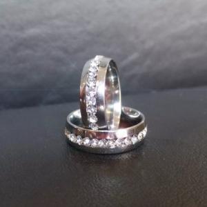 Кольцо из хирургической стали (цена за Лот - 12 шт)