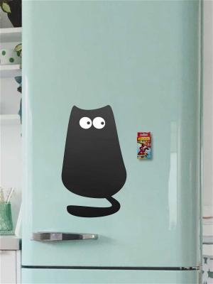 Меловая Доска на холодильник Кот№1 Маленький для рисования+мел