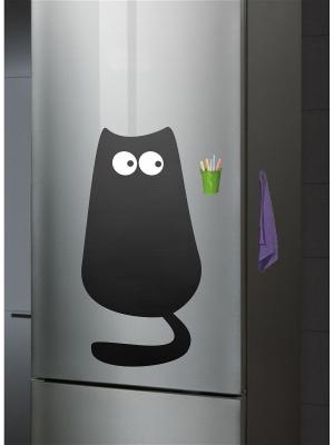 Меловая Доска на холодильник Кот1 Большой для рисования комплект