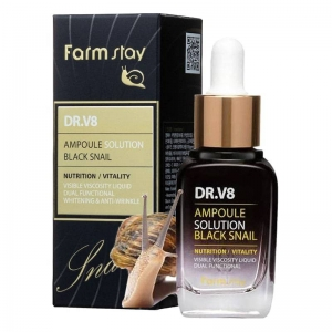 Сыворотка для лица FARMSTAY DR-V8 Black snail оптом