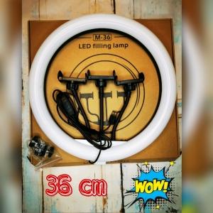 Лампа кольцевая 36 см-3 держателя-штатив