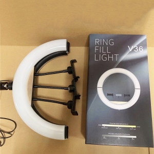 Светодиодная кольцевая лампа с пультом RING FILL LIGHT V36 36 см