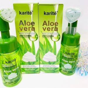 Пенка для умывания с щеточкой karite Aloe Vera
