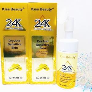 Пенка для умывания с щеточкой Kiss Beauty 24K Make-Up Remover
