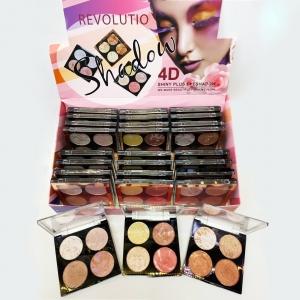 Тени для век London Revolution Makeup Shadow 4D 4 цвета оптом