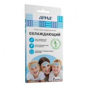 Пластырь мед. охлаждающий АРМА с эвкалиптом , 11.4см /18 пач/36 шт