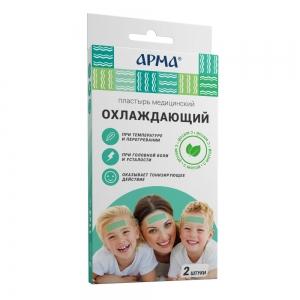 Пластырь мед. охлаждающий с мятой АРМА, 11.4см /18 пач/36 шт