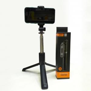 Беспроводной монопод со встроенной треногой Selfie Stick Integrated Tripod Q01 оптом