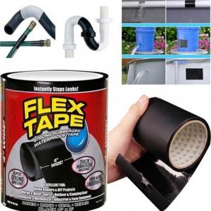 Водонепроницаемая изоляционная лента Flex Tape черная (с бабиной) (СТО)