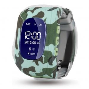 Детские GPS часы Nuobi Q50, Зеленый камуфляж