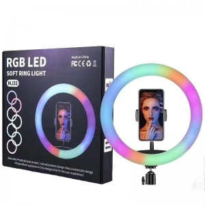 Светодиодная кольцевая лампа RGB LED MJ33 - 33 см оптом
